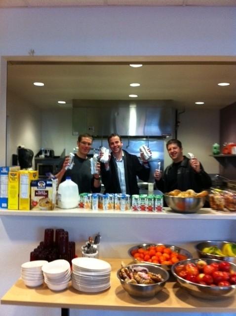 K Fi Crew serving up breakfast