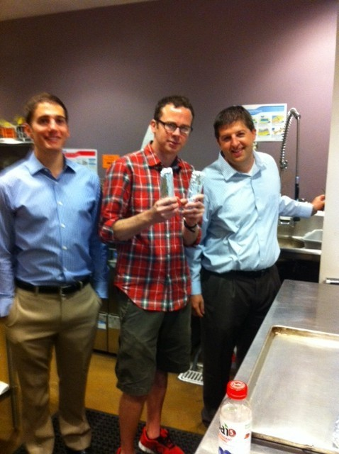 Martin, Daniel and Lonny in the kitchen