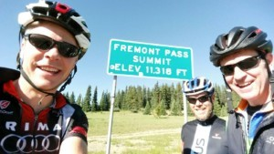 Mark, Jamie and Mark on top of Fremont Pass