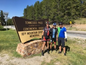 Mark, Jamie and Mark on top of Tennessee Pass